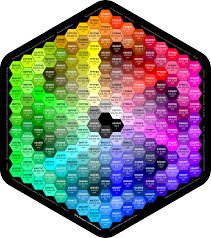 True Color Chart Complete Html True Color Chart Table Of Color Codes For