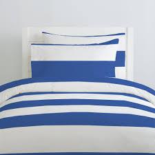 ocean blue horizontal stripe duvet cover