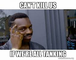 Can't Kill Us If We're All Tanking - Roll Safe Black Guy Pointing at His  Head | Make a Meme