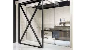 our customized glass sliding door allows smart structuring of rooms without making them seem smaller