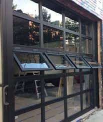 garage doors with windows that open