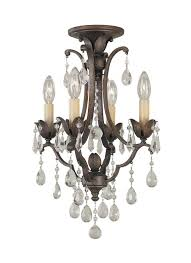 f1881 4brb 4 light mini duo chandelier british bronze