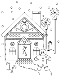 Small Picture Gingerbread Man near the House coloring page Free Printable