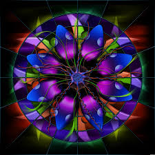 stained glass flower redux