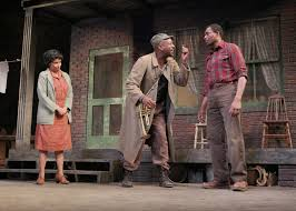 interchange wilson s fences at marin theatre company margo hall rose adrian roberts gabriel and carl lumbly troy maxson in wilson s fences at the mtc photo ed smith