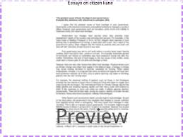 essays on citizen kane homework academic writing service essays on citizen kane citizen kane essays are academic essays for citation these papers were