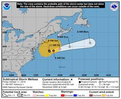 Atlantic Basin Hurricane Tracking Chart National Hurricane Center Miami Florida Subtropical Storm Melissa Having Impact On New England 2