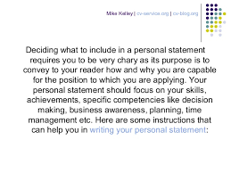 Resumes Personal Statements How To Write A Personal Statement For A Cv