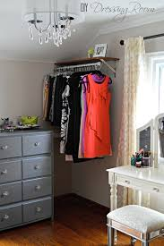 Laundry Hanging Bar 9 Ways To Store Clothes Without A Closet Inexpensive Dresses