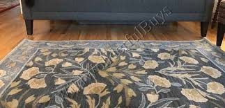 pottery barn adeline rug blue 3x5 fl leaves tufted wool authentic for