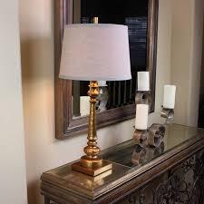 Urban Designs Reuben 2 Light 31 Candlestick Table Lamp With Usb Port Gold