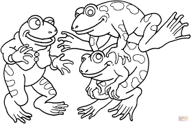 Small Picture Three Frogs coloring page Free Printable Coloring Pages