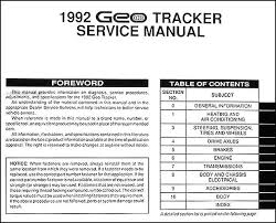 geo tracker wiring schematic geo image wiring diagram 1992 geo tracker repair shop manual original on geo tracker wiring schematic