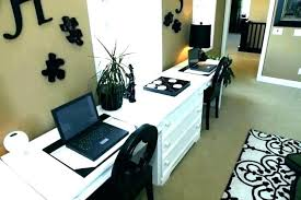 double office desk. Dual Office Desk Double Home Desks For Monitor Pedestal Of . Two Layout D