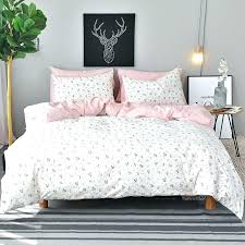 twin white duvet cover flowers set queen king size bedding sets pink cotton bed sheet pillow