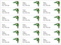 Holiday Address Label Templates Holiday Address Labels Holiday Address Label Template