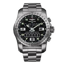 mens breitling watches beaverbrooks the jewellers breitling cockpit b50 titanium chronograph men s watch