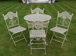 Iron Table And Chairs Set French Ornate Cream Wrought Iron Metal Garden Table And Chairs