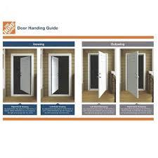 full lite mini blind left hand inswing painted steel prehung front door no brickmold