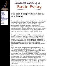 basic essay examples com basic essay examples 10 guide to writing a basic essay sample essay