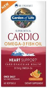 minami cardio omega 3 fish oil 60 softgels garden of life
