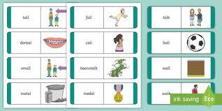 Phonics worksheets for kids including short vowel sounds and long vowel sounds for preschool and kindergarden. Matching Al Words And Picture Cards Teacher Made