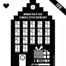 Schoenzet Kalender 2018 Sinterklaas 5 December Pakjesavond