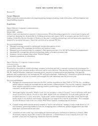 Cv Career Objective Sample Heegan Times