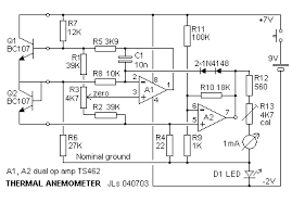 thermal anemometer hot wire anemometer circuit diagram at Hot Wire Anemometer Diagram