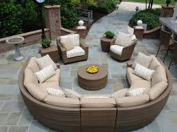 Exquisite Round Patio Couch Modern Outdoor Sectional Furniture