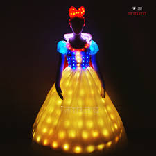 Wedding Dress With Lights Unique Party Dress Luminous Led Lights Glowing Wedding Dress Buy University Graduated Unique Party Dress Luminous Lights Glowing Wedding Dress Led