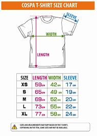 T Shirt Size Chart In Sri Lanka