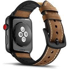 Tasikar <b>Leather Silicone</b> Band Compatible with Apple <b>Watch</b> Band ...
