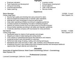 Salon Manager Resume Simple Lovely Salon Manager Resume Examples Also Resume Perfect Hair