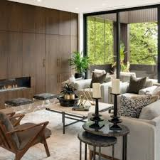 Wooden furniture living room designs Wooden Wall Panel Living Room Contemporary Open Concept Dark Wood Floor And Brown Floor Living Room Idea In Home Stratosphere 75 Most Popular Contemporary Living Room Design Ideas For 2019