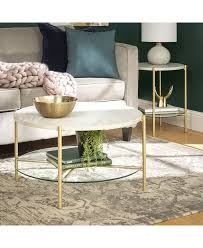 Add a modern boho element to your living room with our unique geometric nesting table set. Walker Edison 2 Piece Round Coffee Table Set Reviews Furniture Macy S