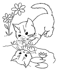Small Picture Little Cat coloring page for kids animal coloring pages