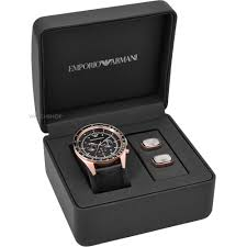 men s emporio armani cufflink gift set chronograph watch ar8026 mens emporio armani cufflink gift set chronograph watch ar8026