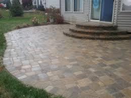 raised patio pavers. Brick Patio Cost Elegant Rollock Arch Steps With Stone Caps Paver Of Raised Pavers