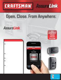 craftsman assure link garage door opener smartphone control kit no service fees free app compatibility list sea2517 fireer sheet b 5