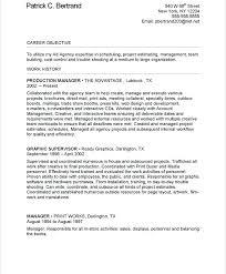 fashion production manager resume sample marketing free samples