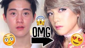 transformation male to female insram anese gyaru makeup ft erabbitx3 you
