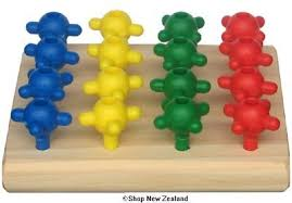 Wooden Peg Board Game Mini Wooden BOPs Peg Board Game 100 Piece Shop New Zealand 81