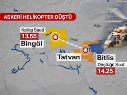 SON DAKİKA: Bitlis Tatvan'da askeri helikopter düştü: 11 şehit