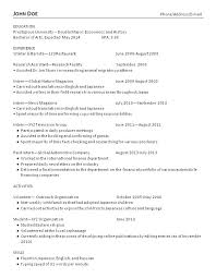 Sample Resume John Doe College Grad Resume Examples And Advice Resume Makeover