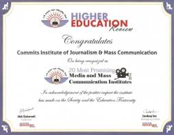 about us commits institute of journalism and mass communication certificate