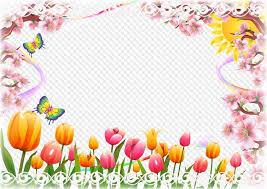 spring photo frame spring holiday