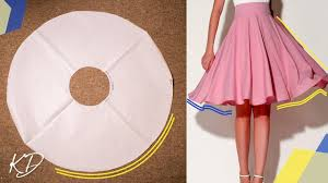 Skirt Pattern Delectable HOW TO MAKE FULL CIRCLE SKIRT PATTERN KIM DAVE YouTube