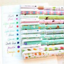 10Pcs/<b>lot Kawaii Cartoon</b> Colorful Gel Pen Set <b>Korean</b> Stationery ...