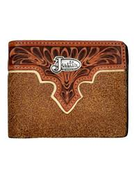 justin western wallet mens bifold roughout leather wjb324 0